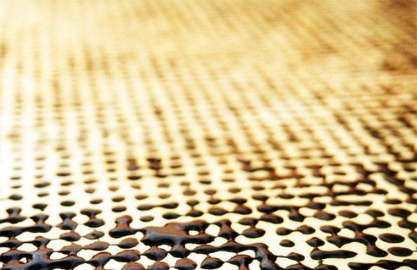 Detalle, Brianna, septiembre, 2001 - Gotas de tinta de imprenta sobre papel